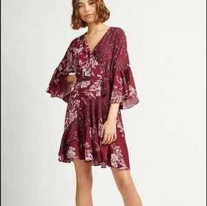 French Collection ELLETTE CREPE FRILL WRAP DRESS